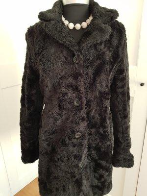 New Look Cappotto invernale nero Pelliccia ecologica