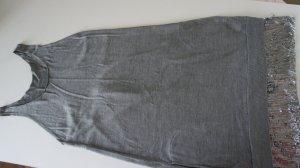 Wunderschönes Minikleid / langes Top mit Pailettenbesatz Feinstrick 100% Seide