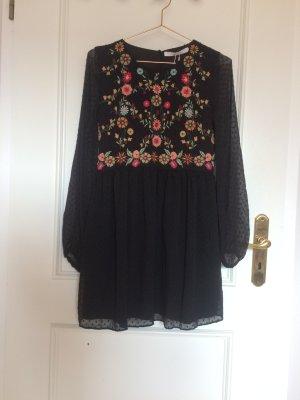 Wunderschönes Minikleid, Tunika  üppig bestickt Zara Gr. M, eher S
