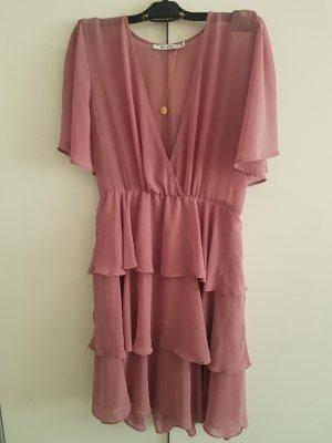 NA-KD Babydoll-jurk stoffig roze-rosé Polyester