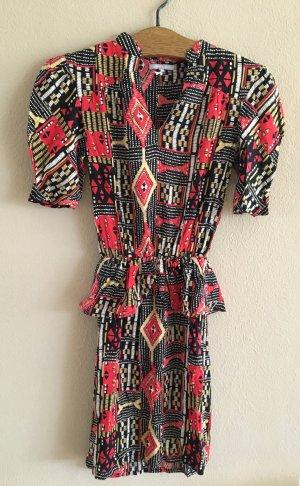 Wunderschönes, neues Peplum-Kleid mit Ethnomuster von 3 Suisses Collection