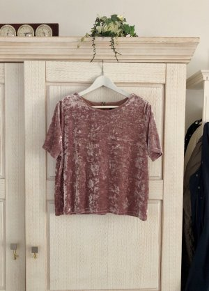 Topshop Cropped Top mauve-gold-colored