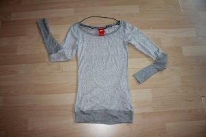 Nike T-shirt de sport argenté-gris clair nylon