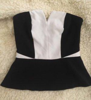 H&M Flounce Top white-black