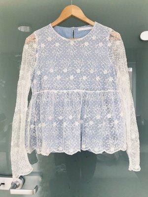 Zara Haut bleu azur-blanc