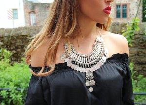 Collar estilo collier color plata