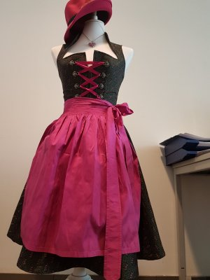 Original Steindl Vestido Dirndl rosa Algodón