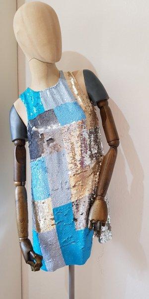 Wunderschönes Paiettenkleid Hängerchen sequin dress UK12 D36/38 Silvester