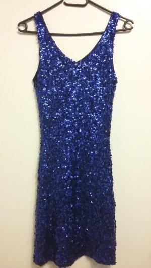 Jennifer Taylor Vestido de lentejuelas azul