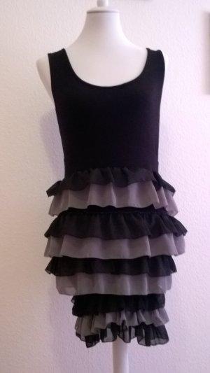 b.p.c. Bonprix Collection Stretch jurk zilver-zwart Viscose