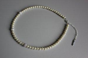Bijou Brigitte Collar estilo collier blanco