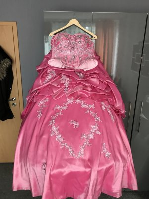Wedding Dress pink-silver-colored