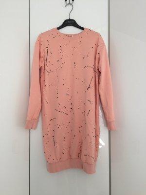 Flam Mode Paris Vestido tipo jersey rosa claro-negro Algodón