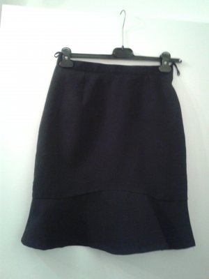Flounce Skirt black cotton