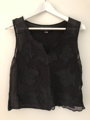 Minkpink Crochet Top black cotton