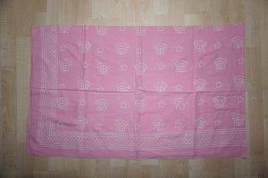 Pañoleta rosa claro-blanco puro