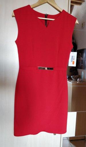 Wunderschönes rotes dehnbares Kleid Gr. M (38)