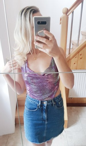 Zara Backless Top lilac