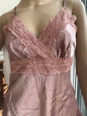 Kanten topje stoffig roze-roze Polyester
