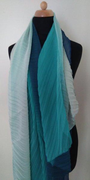 wunderschönes Schal-Tuch in kühlen blau-grün-weiß-Tönen
