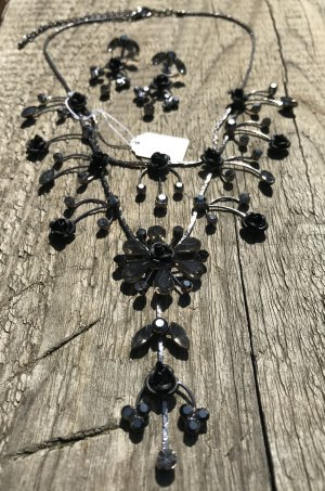 Collier Necklace black-silver-colored