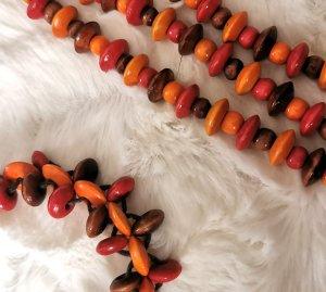 Parelketting licht Oranje-donkerrood