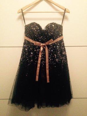 Wunderschönes schwarz-goldenes Abiball/Paillettenkleid von Laona