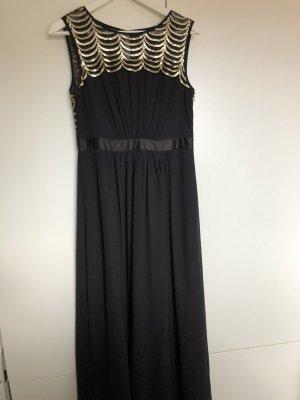 Wunderschönes schwarzen Abendkleid mit goldenen Details