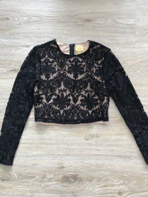 wunderschönes schwarzes Spitzenshirt von H&M
