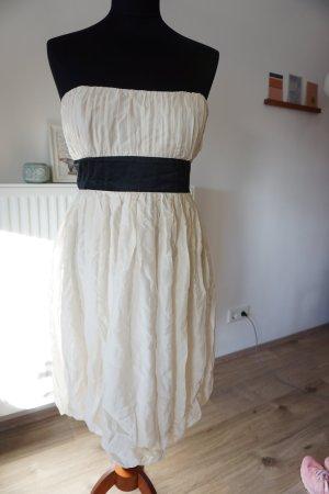 Forever 21 vestido de globo blanco puro-negro Seda