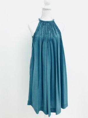 Wunderschönes Seidenkleid von maje, in petrolblau, Gr. S