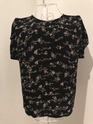 Wunderschönes Sessun Oberteil Shirt, S, schwarz gemustert, neu