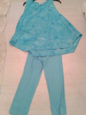 wunderschönes Set mit Tunika und 3/4 Leggins - in tollem hellblau türkis für den Sommer