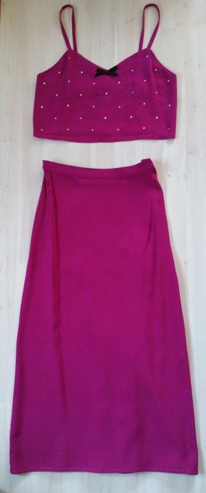 Sonia Rykiel Twin set violet-magenta Acetaat