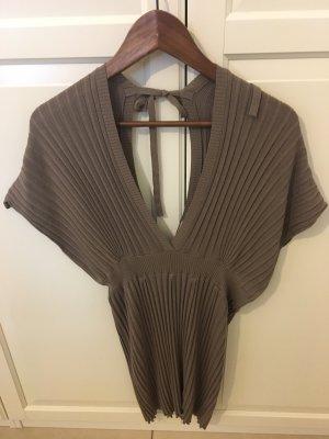 Reken Maar V-Neck Sweater grey brown