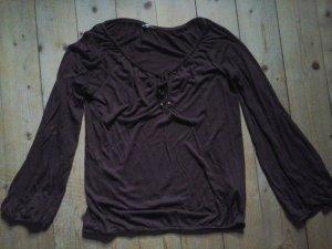 Wunderschönes Shirt Tunikabluse von Herrlicher weinrot bordeaux Gr. S