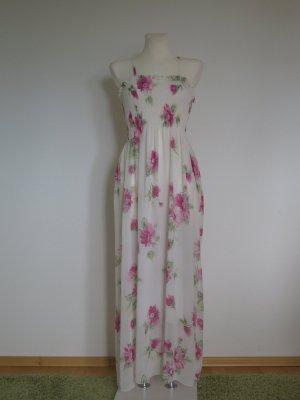 Wunderschönes Sommerkleid bügelfrei Kofferkleid Gr. S Blumen