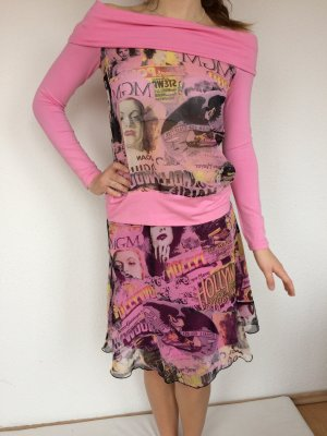 Morgan Flounce Dress multicolored