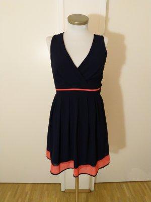 Wunderschönes Sommerkleid Marine/Apricot Wal G