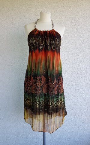 Off-The-Shoulder Dress multicolored polyester