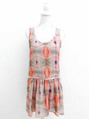Wunderschönes Sommerkleid von Mango, Gr.S, hellrosa-grün-nude