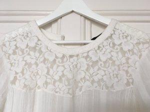 Wunderschönes Sommerkleid, Weiß, Spitze, Stickerei in 42