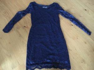 Vero Moda Robe en dentelle bleu foncé