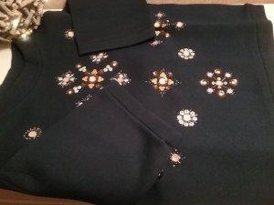 Wunderschönes Sweatshirt von H&M in Dunkelblau mit Pailletten ...wie NEU!!!!