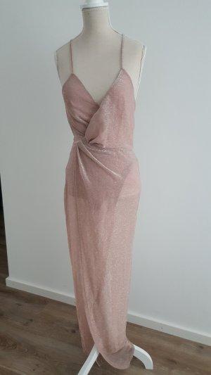 Asos Evening Dress dusky pink-rose-gold-coloured polyester