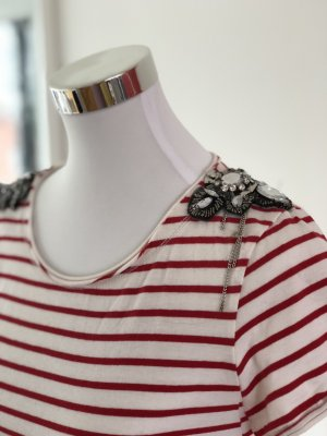 Zara T-Shirt white-red