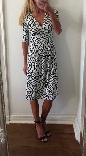 wunderschönes tailliertes Kleid * schwarz-weiß * Gr. S 36 * NEU!