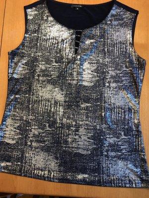 Comma Haut tricotés bleu foncé-argenté polyester