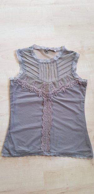 Orsay Lace Top grey brown