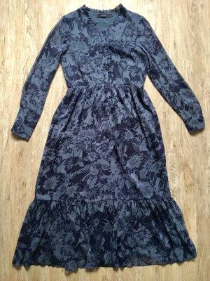 Wunderschönes Vero Moda Kleid Gr M lang blau Blumenmuster